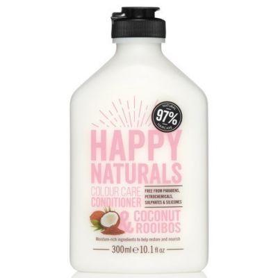 Happy Naturals Colour Care Conditioner Coconut & Rooibos, Conditioner για Βαμμένα Μαλλιά, με έλαιο Καρύδας & εκχύλισμα rooibos, 300ml