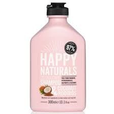 Happy Naturals Colour Care Shampoo Coconut & Rooibos, Σαμπουάν για Βαμμένα Μαλλιά, με έλαιο Καρύδας & εκχύλισμα rooibos, 300ml