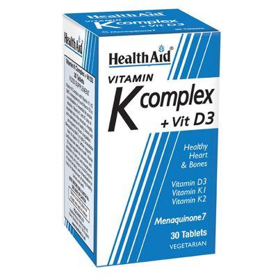 Health Aid Vitamin K Complex + Vit D3 30 Κάψουλες