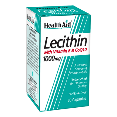 Health Aid Lecithin 1000mg - Co Q10 & Vitamin E 30 Κάψουλες