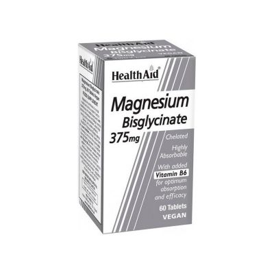 Health Aid Μαγνήσιο Magnesium Bisglycinate 375mg 60 Ταμπλέτες
