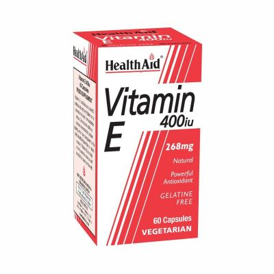 Health Aid Vitamin E 400iU 60 Φυτικές Κάψουλες