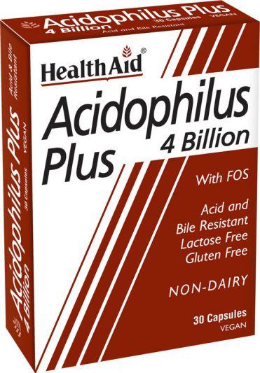 Health Aid Acidophilus Plus 4 bilion 30caps