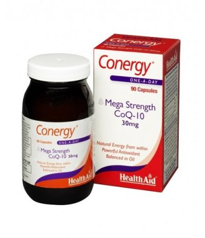 Health Aid Conergy CoQ-10 30mg 90 capsules