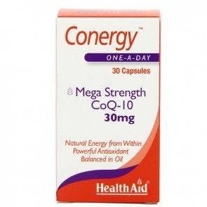 Health Aid Conergy CoQ-10 30mg 30 capsules