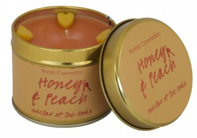 Bomb Cosmetics Honey & Peach Tinned Handmade Candle 1τμχ 243g