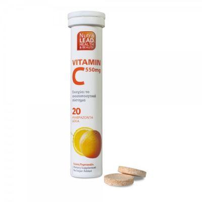 Nutralead Vitamin C 550mg με Πορτοκάλι 20 αναβράζοντα δισκία
