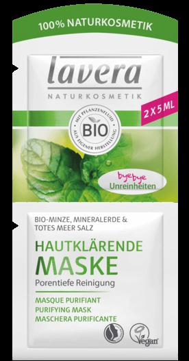 Lavera Facial Care Μάσκα Καθαρισμού Προσώπου Με Βιολογική Μέντα, Άργιλο Και Άλατα Από Τη Νεκρά Θάλασσα 10ml
