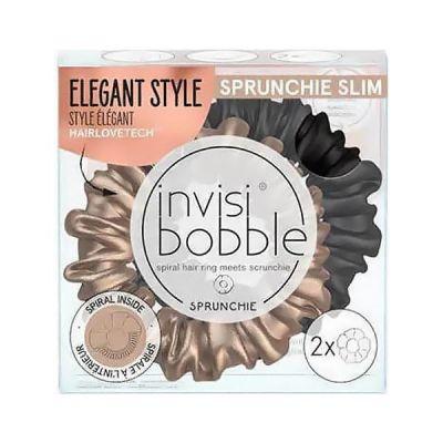 Invisibobble Sprunchie Slim Λαστιχάκι Μαλλιών True Golden 2τμχ