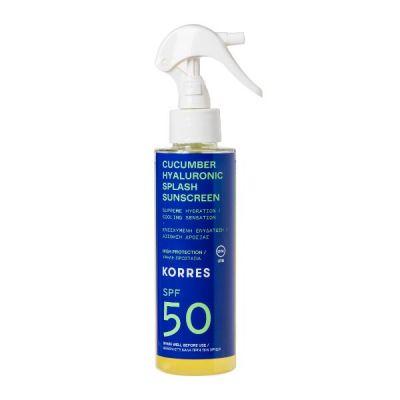 Korres Cucumber & Hyaluronic Splash Sunscreen SPF50 150ml