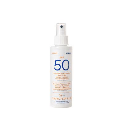 Korres Αντηλιακό Γαλάκτωμα Spray Σώματος & Προσώπου spf50 150ml