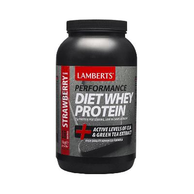 Lamberts Diet Whey Protein 1000gr, Πρωτεΐνη με Προσθήκη Αμινοξέων και Εκχύλισμα Πράσινου Τσαγιού, Γεύση Φράουλα 1kg