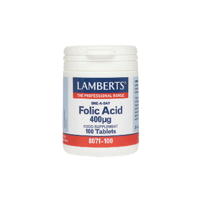 Lamberts Folic Acid 400mg 100 Ταμπλέτες