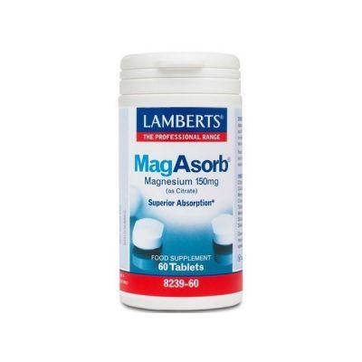 Lamberts MagAsorb 150mg 60 Ταμπλέτες
