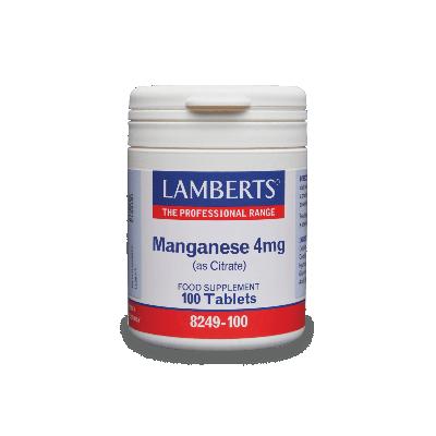 Lamberts Manganese 4mg 100 Ταμπλέτες