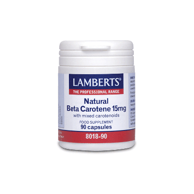 Lamberts Natural Beta Carotene 15mg 90 Κάψουλες