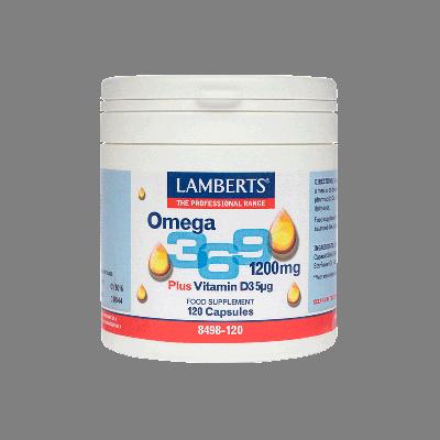 Lamberts Omega 3 6 9 1200mg Συνδιασμός Λιπαρών Οξέων 120 Κάψουλες