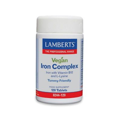 Lamberts Vegan Iron Complex 120 Ταμπλέτες