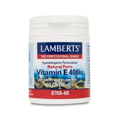 Lamberts Vitamin E Natural 400 IU 60 Κάψουλες
