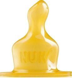 NUK Classic θηλή Kαουτσούκ No 1 (0-6 ΜΗΝΩΝ) Tρύπα Tροφής Medium