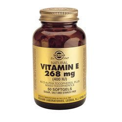 Solgar Vitamin E 268MG (400IU) 50 Φυτικές Μαλακές Κάψουλες