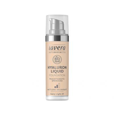 Lavera Υγρό Make-up με Υαλουρονικό οξύ -Ivory Light 01- 30ml