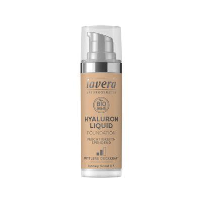 Lavera Υγρό Make-up με Υαλουρονικό οξύ -Honey Sand 03- 30ml