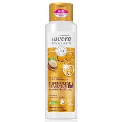 Lavera Hair PRO 2in1 Σαμπουάν & Conditioner Εντατικής Φροντίδας Και Επανόρθωσης Από Βιολογικό Αμύγδαλο Και Έλαιο Μακαντάμια 250ml