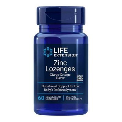 Life Extension Zinc Lozenges 24mg 60 Παστίλιες