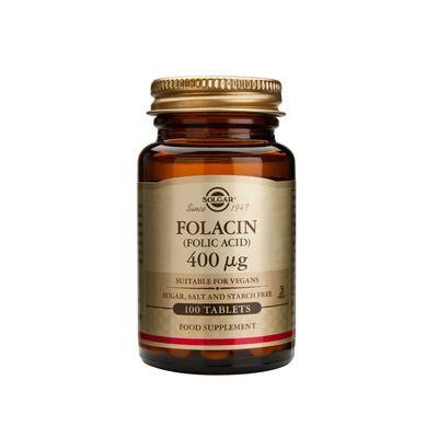Solgar Folacin (Folic Acid) 400μg 100 Ταμπλέτες