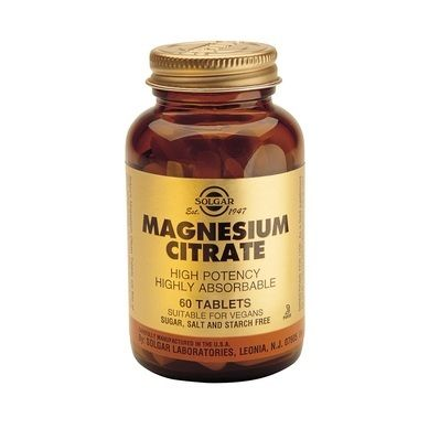 Solgar Magnesium Citrate 200mg 60 Ταμπλέτες