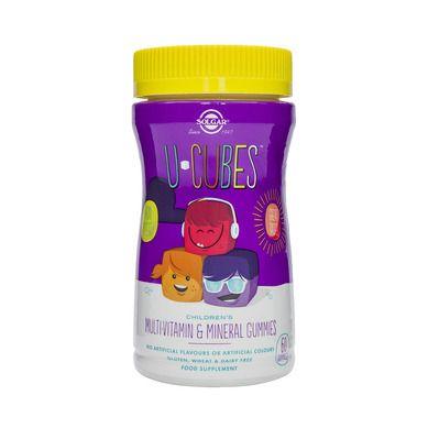 Solgar U-Cubes, Παιδικές Πολυβιταμίνες, Γεύση Κεράσι, Σταφύλι & Πορτοκάλι, 60 Μασώμενα Ζελεδάκια
