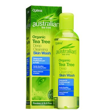 Optima Organic Tea Tree Deep Cleansing Skin Wash 250ml