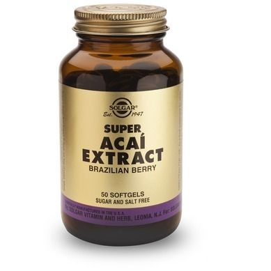 Solgar Super Acai Extract 50 Μαλακές Κάψουλες