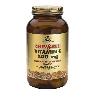 Solgar Vitamin C 500mg Orange 90 Μασώμενες Ταμπλέτες