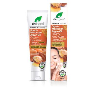 Dr. Organic Organic Μoroccan Argan Oil Creamy Face Wash 150ml