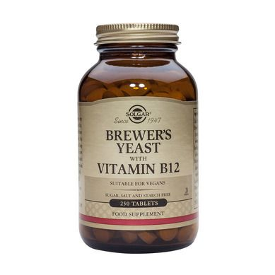 Solgar Brewer's Yeast with Vitamin B-12 250 Ταμπλέτες
