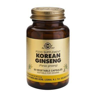 Solgar Korean Ginseng 50 Φυτικές Κάψουλες