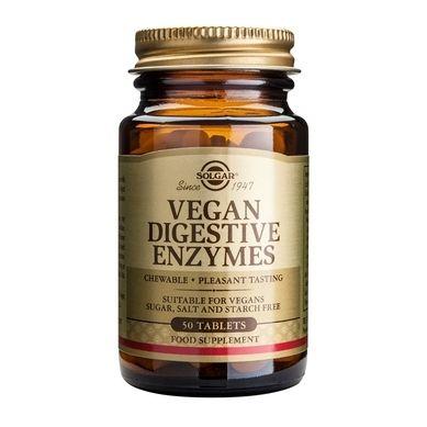 Solgar Vegan Digestive Enzymes 50 Μασώμενες Ταμπλέτες