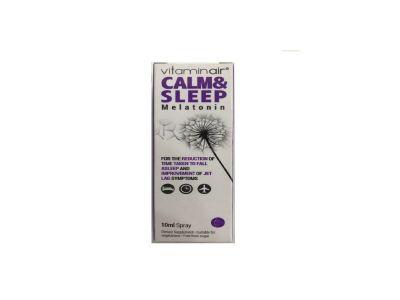 Medicair Vitaminair Calm & Sleep Spray Συμπλήρωμα Διατροφής για την Μείωση του Χρόνου της Έλευσης του Ύπνου 10ml