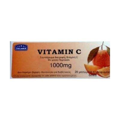 Medichrom Delmer Vitamin C 1000mg 28 Μασώμενες Ταμπλέτες