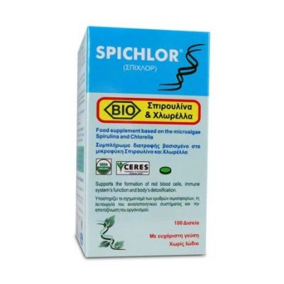 Medichrom Spichlor Συμπλήρωμα Σπιρουλίνας και Χλωρέλλας 100 Δισκία