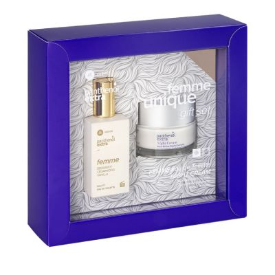 Medisei Panthenol Extra Gift Set - Femme Unique Eau De Toilette 50ml & Night Cream 50ml