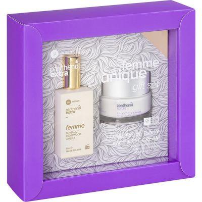 Medisei Panthenol Extra Gift Set - Femme Unique Eau De Toilette 50ml & Face & Eye Cream 50ml