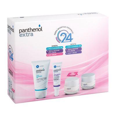 Medisei Panthenol Extra Promo Face Cleansing Gel 150ml & Triple Defense Eye Cream 25ml & Day Cream Spf15 50ml & Night Cream 50ml