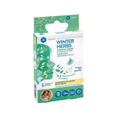 Medisei Winter Herbs Αρωματικό Επίθεμα Με Ευκάλυπτο & Μέντα 6τμχ