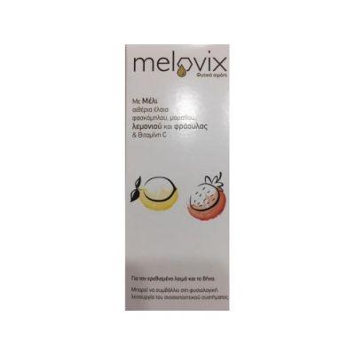 Melovix Φυτικό Σιρόπι για Ερεθισμένο Λαιμό και Βήχα με Λεμόνι και Φράουλα 200ml