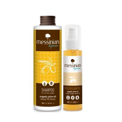 Messinian Spa Precious Hair Oil 100ml & Δώρο Shampoo Με Σιτάρι & Μέλι 300ml