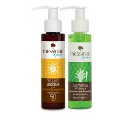 Messinian Spa Face & Body Sunscreen SPF50 100ml & Δώρο Aloe Vera Gel 100ml