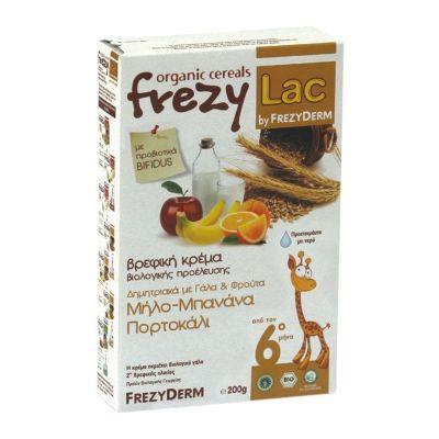 Frezyderm Frezylac βρεφική Κρέμα Δημητριακά Με Γάλα & Φρούτα (Μήλο, Μπανάνα και Πορτοκάλι) 200g